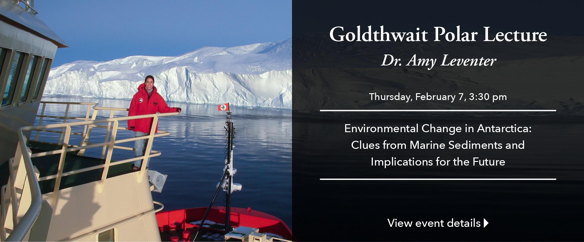 2018 Goldthwait Polar Lecture