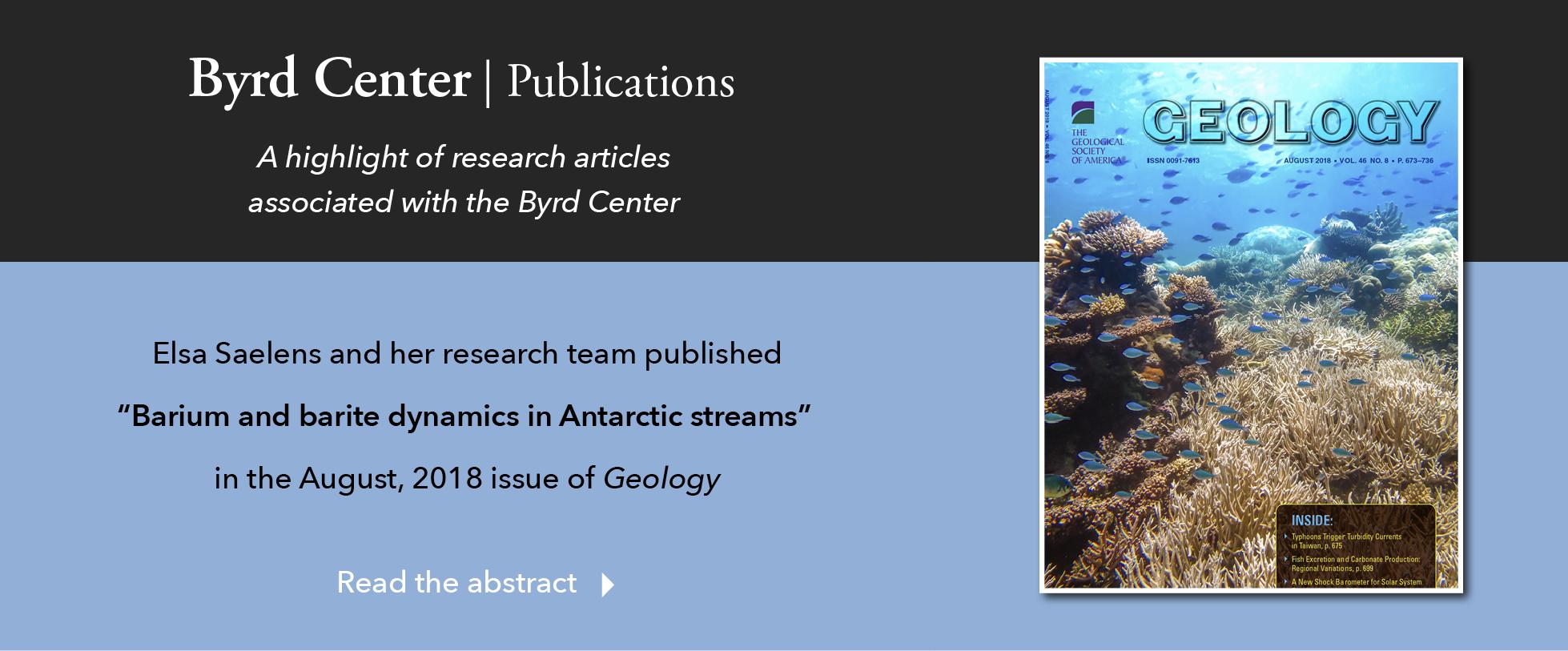 Barium and barite dynamics in Antarctic streams