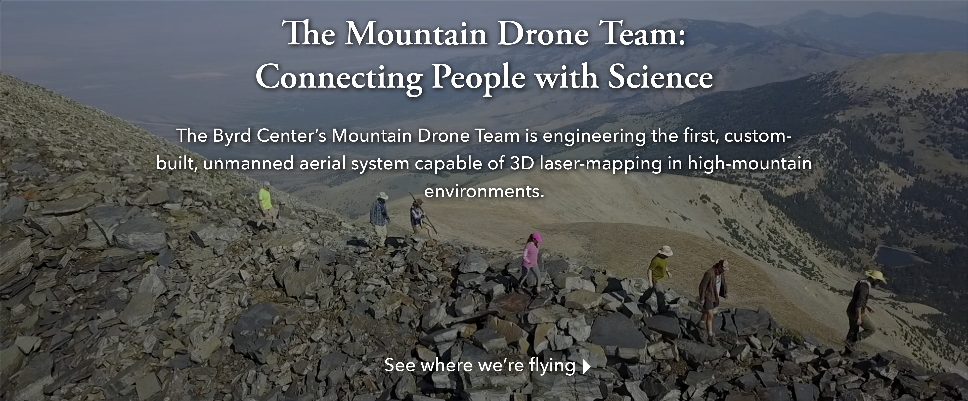 The Mountain Drone Team: Connecting People with Science