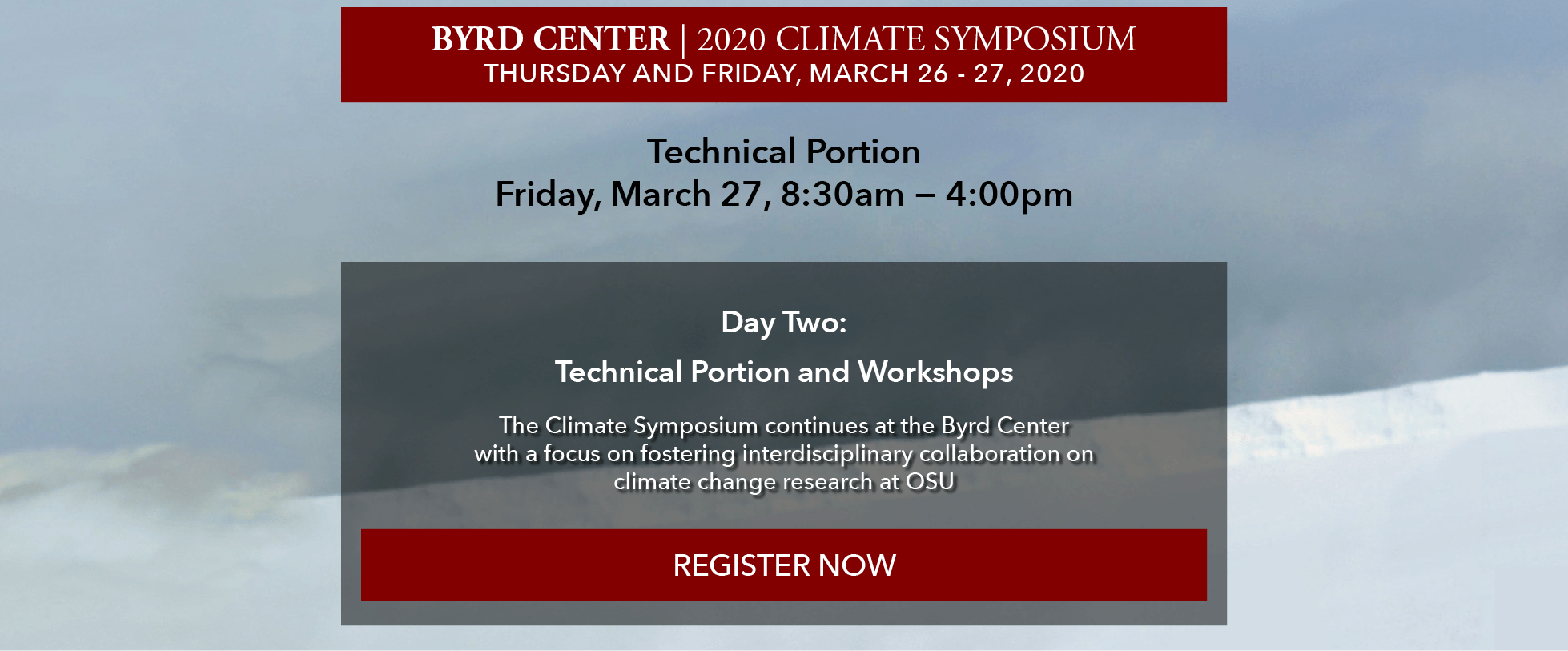 Register now for the 2020 Climate Symposium: day two