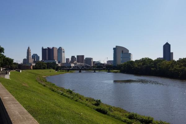 Downtown Columbus with Scioto River in Foreground