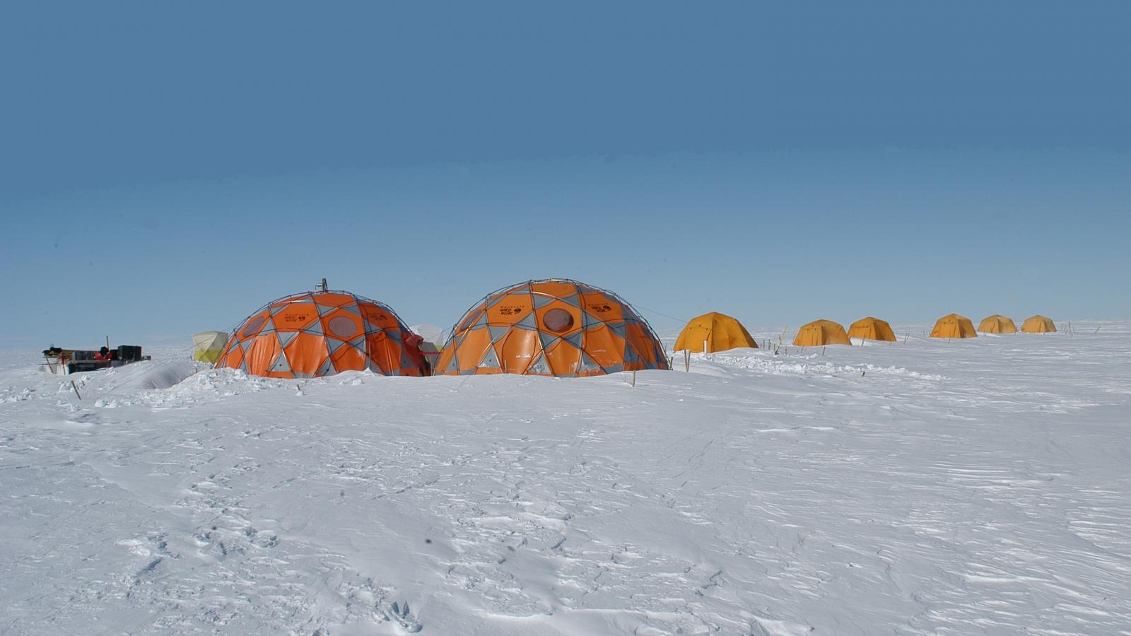 Photo of camp on a clear day
