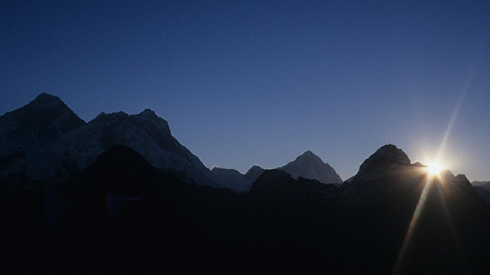 Sunrise over the Himalayas, Nepal